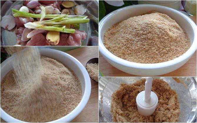 hạt nêm làm từ thịt heo