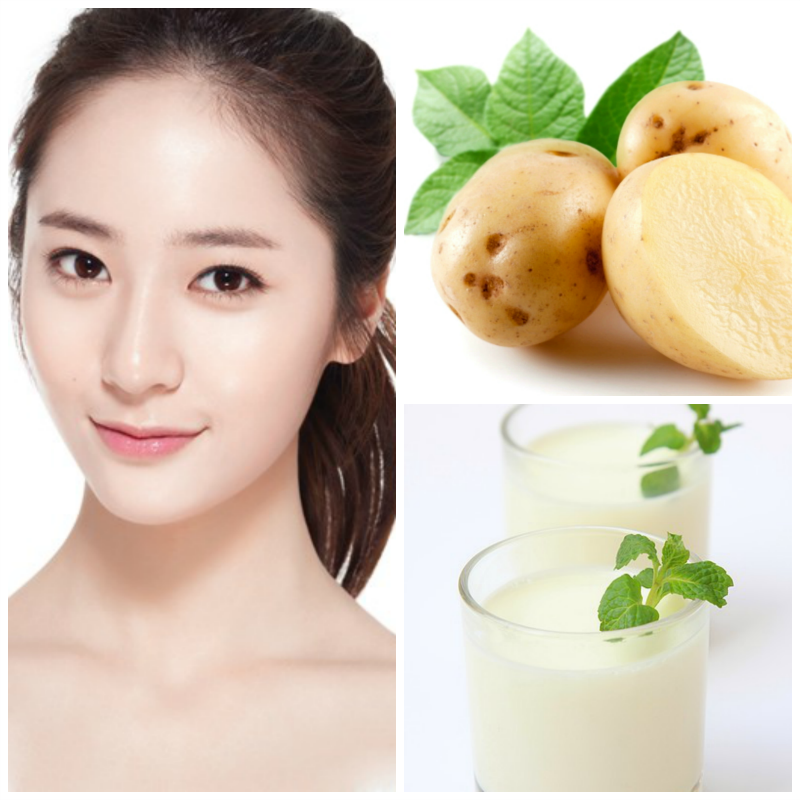 Những cách làm mặt nạ khoai tây dưỡng trắng da và trị mụn tận gốc