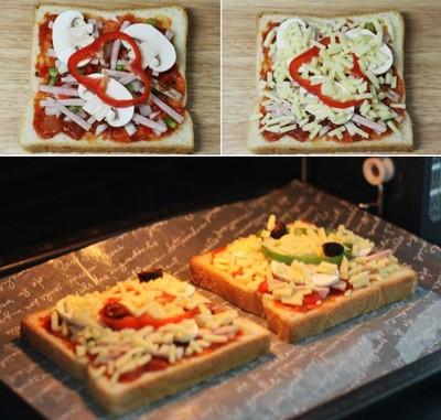 Hướng dẫn cách làm bánh pizza sandwich siêu nhanh cho bữa sáng
